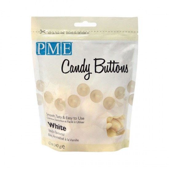 PME Candy Buttons -  Λευκό 340gr.