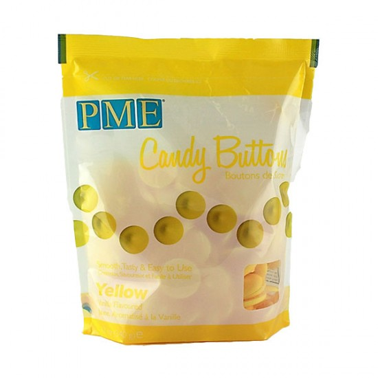 PME Candy Buttons -  Κίτρινο  340gr.