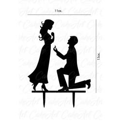 Topper Mr & Mrs 11x13εκ. Μαύρο πλέξιγκλας