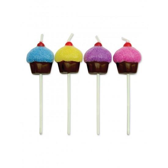 Κεριά Cupcake Σετ 8 τεμ.