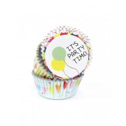 Καραμελόχαρτα Αλουμινίου για Cupcakes Party Time - 60 Τεμ