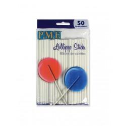 Λευκά Sticks για Pops (11,5εκ, 50τεμ)