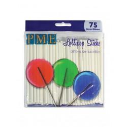 Λευκά Sticks για Pops (9,5εκ, 75τεμ)