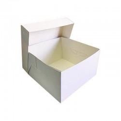 Λευκό κουτί μεταφοράς τούρτας 15 x15 x Y15εκ.