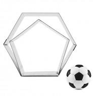 INOX Κουπατ Μπάλα Ποδοσφαίρου Εξάγωνο & Πεντάγωνο - 15,5 εκ.