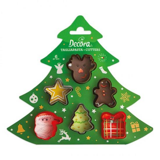 Μίνι χριστουγεννιάτικα κουπάτ Σετ 6 Τεμ. - Decora