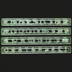 Cutter - Παλιά αγγλική γραμματοσειρά κεφαλαία γράμματα και αριθμοί σε 4 λωρίδες - FMM