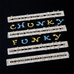 Tappit - Κουπάτ της FMM Chunky Funky Λατινική Αλφάβητος και Νούμερα
