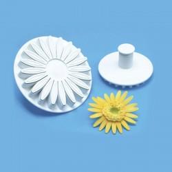Σετ 3 πρεσαριστά κουπατ ζαχαρόπαστας – Σχέδιο μαργαρίτα 6, 7 & 8 cm