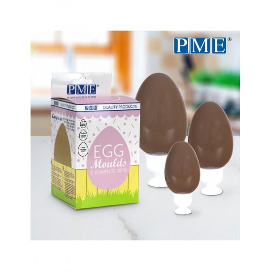 Σετ 3 Καλούπια για Σοκολατένια Αβγά της PME 12,4x8 - 11x7.2 - 7.3x4.5εκ.