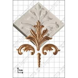 Damask Scrolls - Καλούπι για Ζαχαρόπαστα - Σοκολάτα της FPC