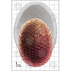 X-LARGE Αυγό Δράκου - Καλούπι για Ζαχαρόπαστα - Σοκολάτα της FPC