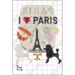 Παρίσι -  Πολλαπλό Καλούπι Σιλικόνης της FPC - Paris