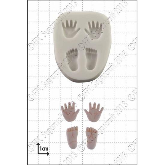 Μικρά Χέρια και Πόδια Καλούπι Σιλικόνης - FPC