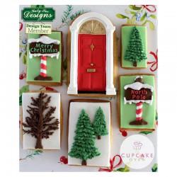 Καλούπι Σιλικόνης - Χριστουγεννιάτικα Ταμπελάκια - της Katy Sue