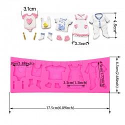 Παιδικά Ρούχα 3D - Καλούπι Σιλικόνης 17 x 6,5 εκ