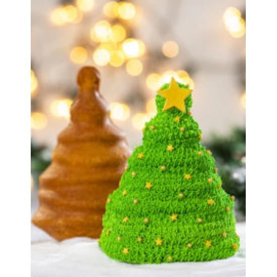 Τρισδιάστατο αντικολλητικό καλούπι χριστουγεννιάτικου δέντρου 15 x 10 x 20 εκ - Decora