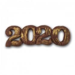 2020 Διακοσμητικά Ζαχαρόπαστας 11x4εκ. - Καφέ-Χρυσό 5Τεμ & 100Τεμ.
