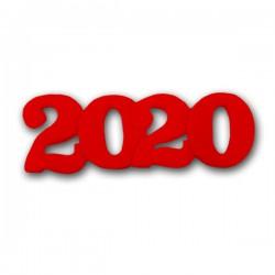 2020 Διακοσμητικά Ζαχαρόπαστας 11x4εκ. - Κόκκινο 5Τεμ. & 100Τεμ.
