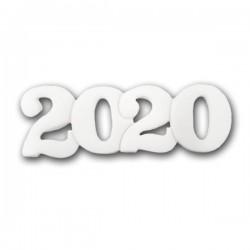 2020 Διακοσμητικά Ζαχαρόπαστας 11x4εκ. - Λευκό 5Τεμ. & 100Τεμ.