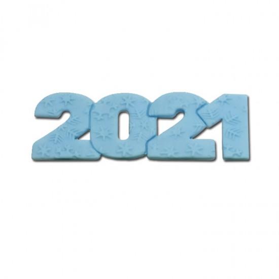 2021 Διακοσμητικά Ζαχαρόπαστας 12x4εκ. - Λευκό 3Τεμ. & 100Τεμ.