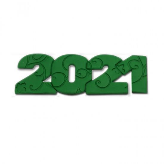 2021 Διακοσμητικά Ζαχαρόπαστας 12x4εκ. - Πράσινο 3Τεμ. & 100Τεμ.