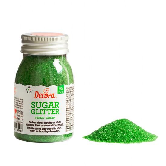 Glitter Ζάχαρης 100gr - Πράσινο - (Green Sugar Glitter)