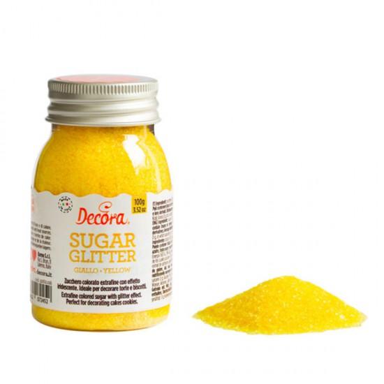 Glitter Ζάχαρης 100gr - Κίτρινο - (Yellow Sugar Glitter)