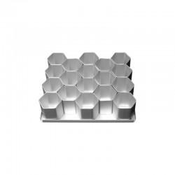 Multi-Mini Σετ 15τεμ. Εξάγωνα Φόρμες Ψησίματος Διαμ.6,35εκ (2 1/2