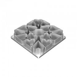 Multi-Mini Σετ 16τεμ.  Φόρμες Ψησίματος σε σχήμα Καρδιάς Διαμ.6,35εκ (2 1/2