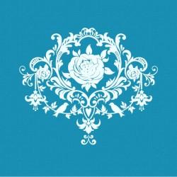 Βινταζ Τριαντάφυλλο - Μικρό Δικτυωτό Στένσιλ