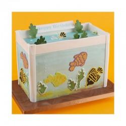 Κουπάτ Σετ Στένσιλ και Κουπάτ - Σετ Ψάρια Ενυδρείου (Stencil / Cutter - Fish Set)