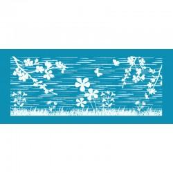 Λιβάδι λουλουδιών - Μεγάλο Δικτυωτό Στένσιλ