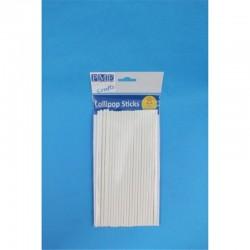 Λευκά Sticks για Pops (20εκ, 25τεμ)