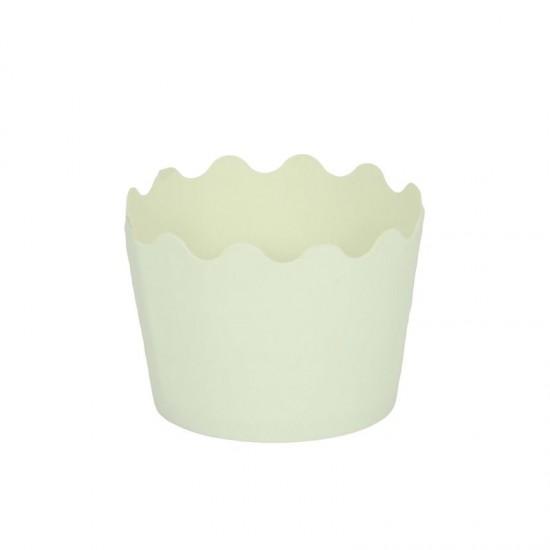 Κυπελάκια Cupcakes με καραμελόχαρτο Μικρά Δ5,7xΥ4εκ. - Λευκό - 65τεμ