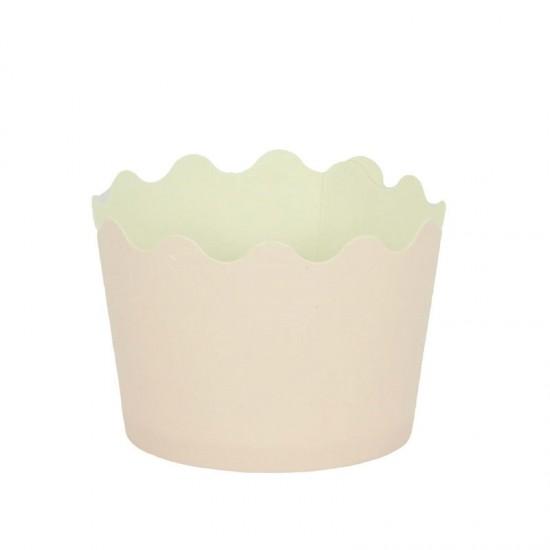 Κυπελάκια Cupcakes με καραμελόχαρτο Μικρά Δ5,7xΥ4εκ. - Ροζ - 65τεμ