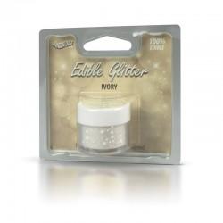 Βρώσιμο Γκλίτερ - Ιβουάρ - (Glitter Ivory)