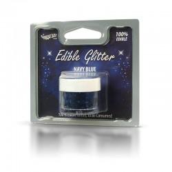 Βρώσιμο Γκλίτερ - Μπλέ του Ναυτικού - (Glitter Navy Blue)