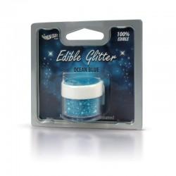 Βρώσιμο Γκλίτερ - Μπλέ του Ωκεανού - (Glitter Ocean Blue)