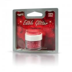 Βρώσιμο Γκλίτερ - Κόκκινο της Φράουλας - (Glitter Strawberry)