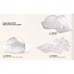 Πλαστικό καλούπι PET 4τεμ. για σοκολάτα Σφαίρα/Μπάλα (4xΦ9εκ., 4xΦ7,5εκ., 4xΦ6,5εκ., 4xΦ5εκ.)